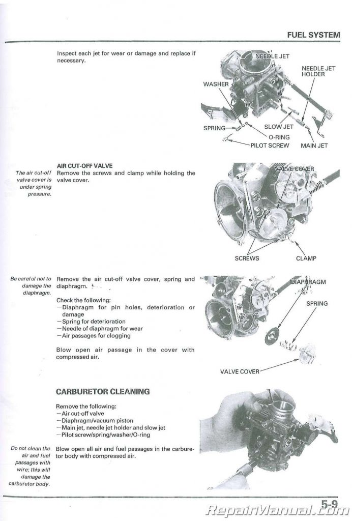 2001-2007 Honda NSS250A Scooter Service Manual