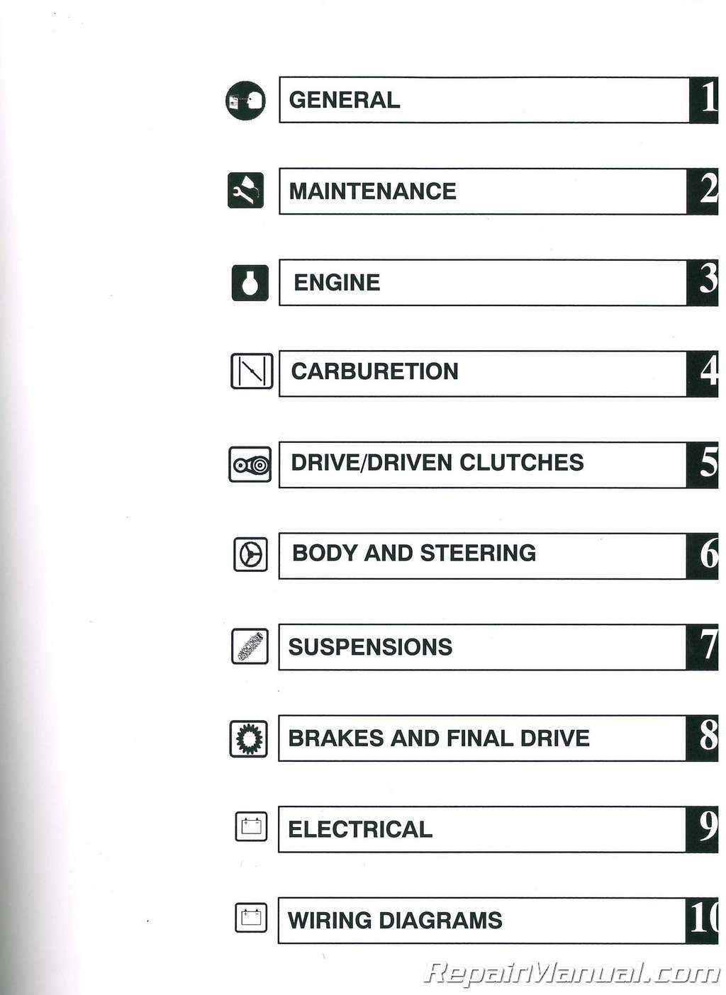 hight resolution of 2002 polaris xc sp and xcr performance snowmobile service manual 2002 polaris xcsp 600 wiring diagram