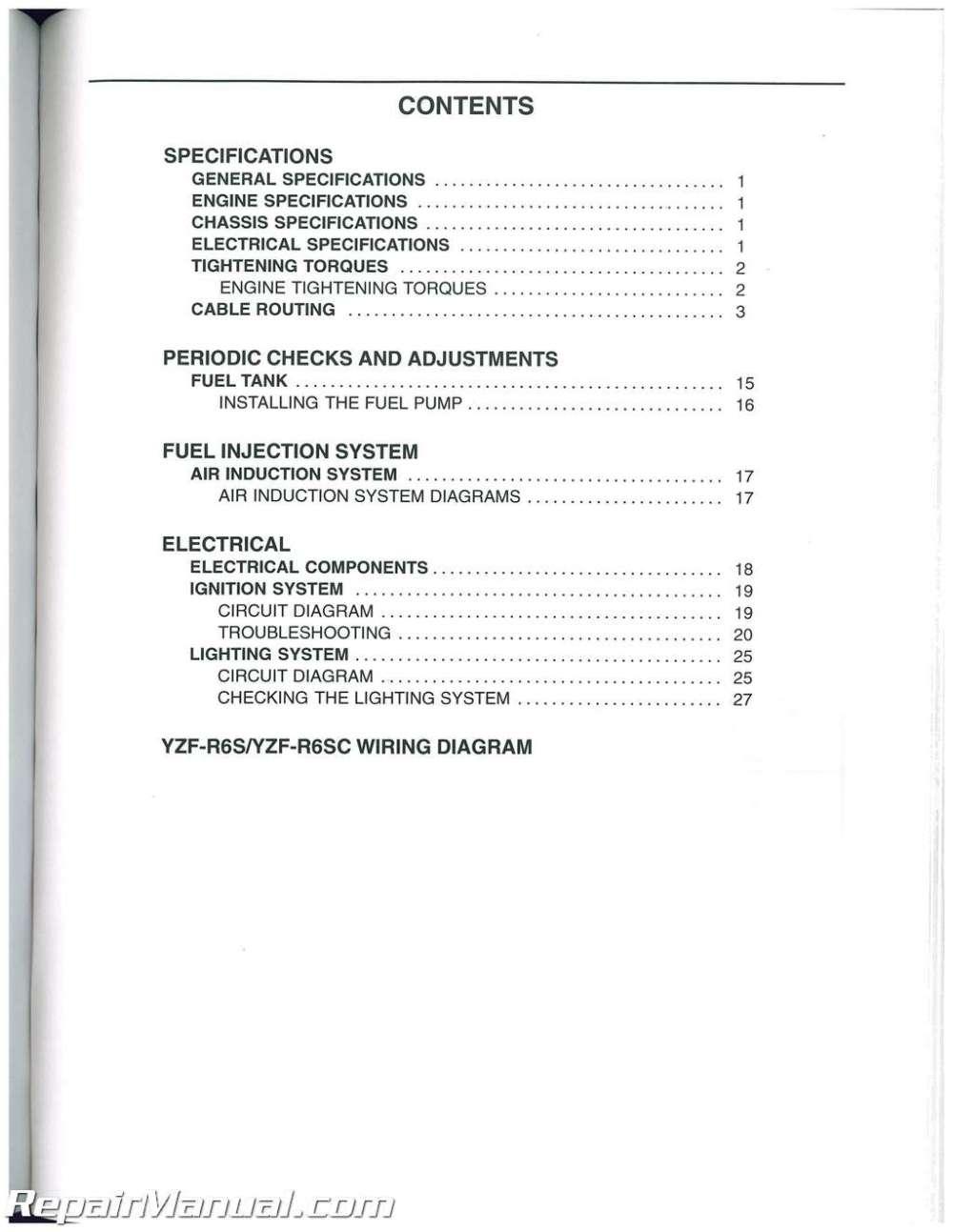 medium resolution of 2005 yamaha r6 wiring diagram ignition