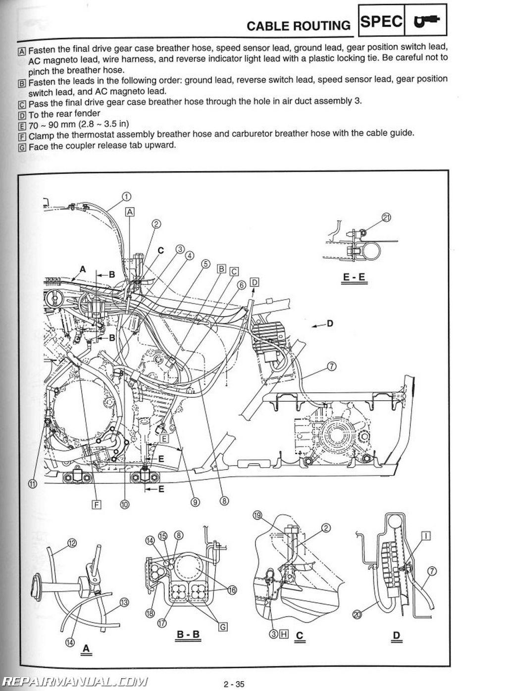 Ezgo Electric Golf Cart Wiring Diagram Yfm660fa Grizzly 660 Yamaha Atv Service Manual 2003 2008