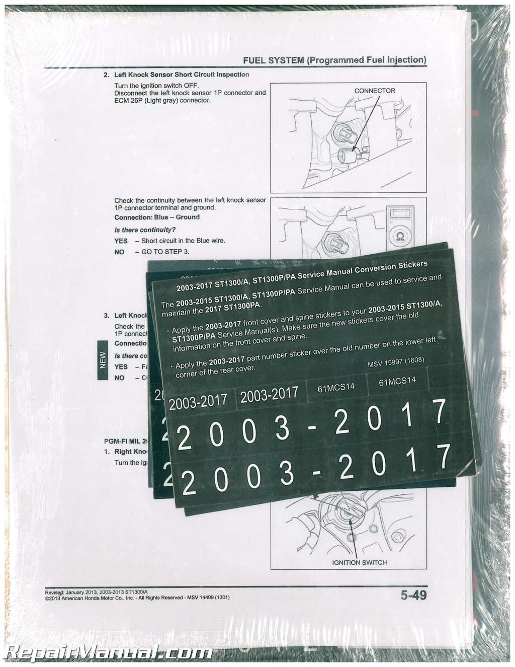 hight resolution of 2003 2017 honda st1300 a p pa motorcycle service manual st1300 engine diagram