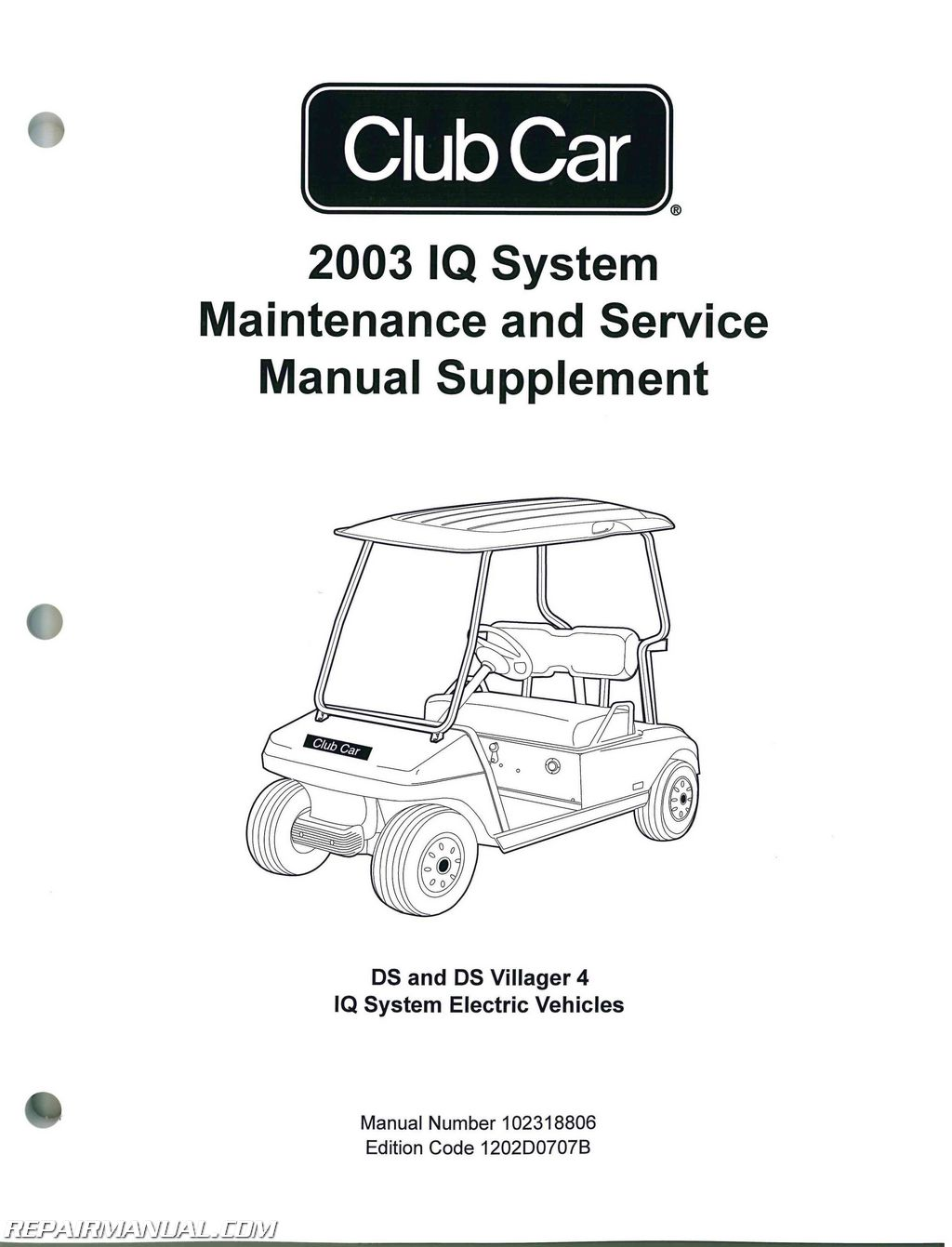 hight resolution of 2003 club car iq system maintenance service manual supplement