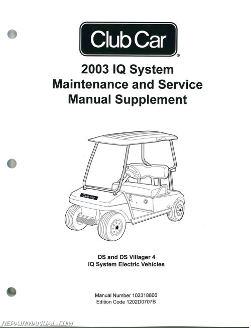 small resolution of 2003 club car iq system maintenance service manual supplement