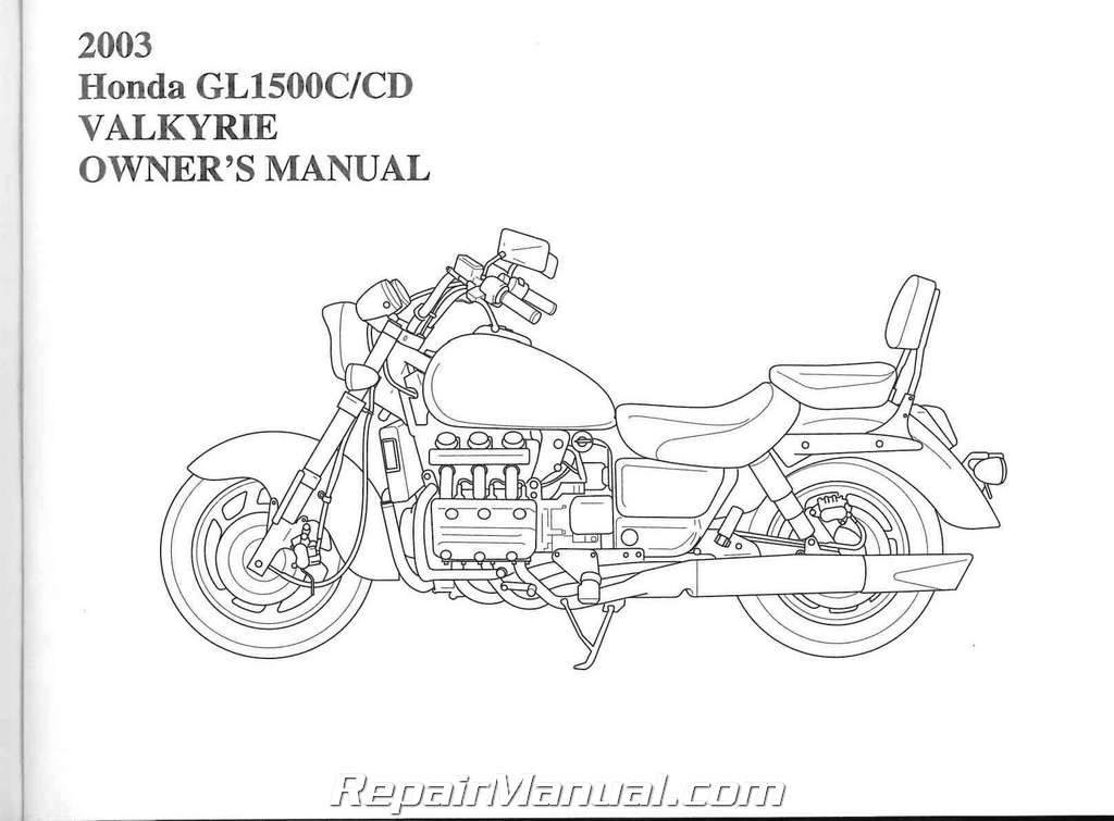2003 Honda GL1500 Valkyrie Motorcycle Owners Manual