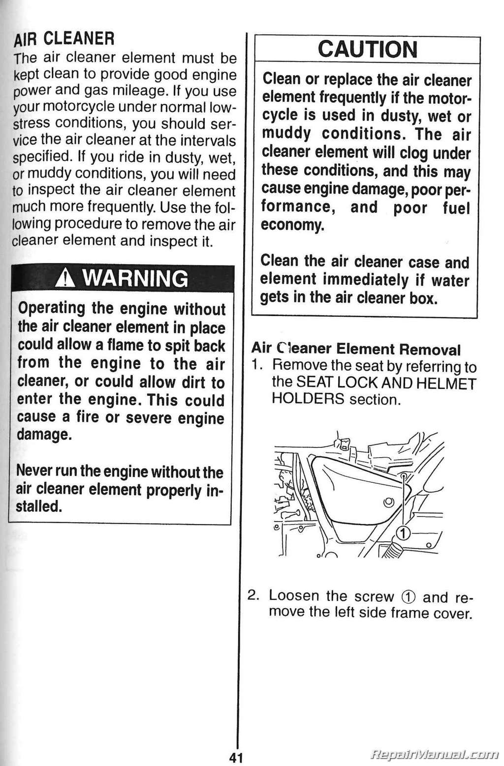 2003 2004 Suzuki GZ250 Marauder Owners Manual : 99011