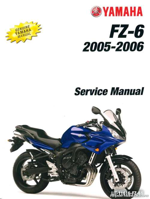 small resolution of 2004 2006 yamaha fz6 service manual rh repairmanual com