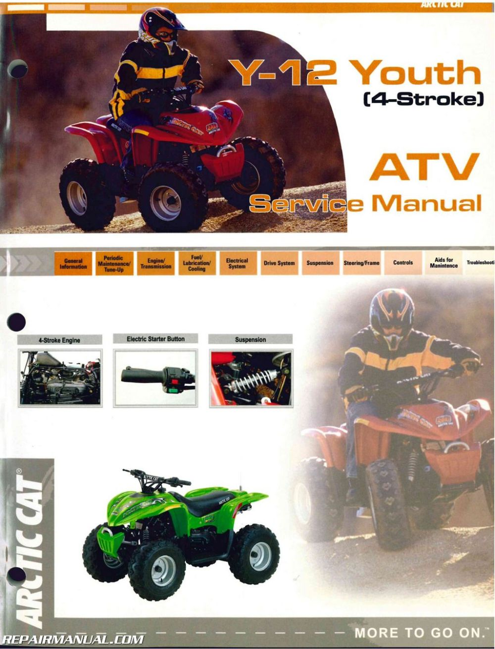 medium resolution of 2004 arctic cat 90 atv service manual
