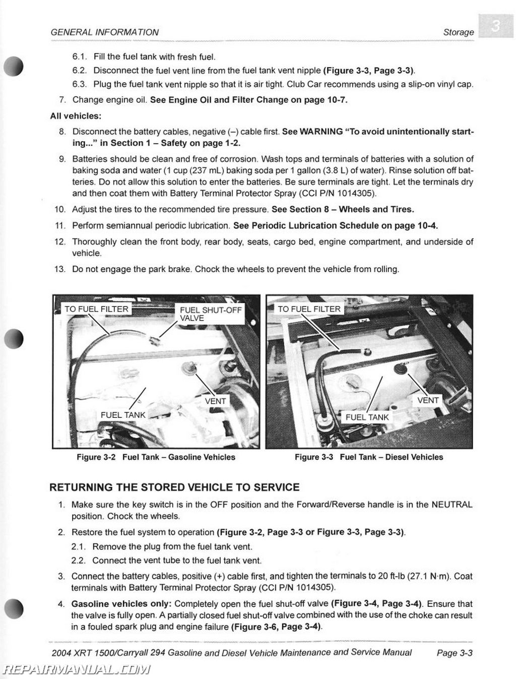 automotive wiring diagrams manual electric scooter throttle diagram 2004 club car carryall 294 and xrt 1500 maintenance