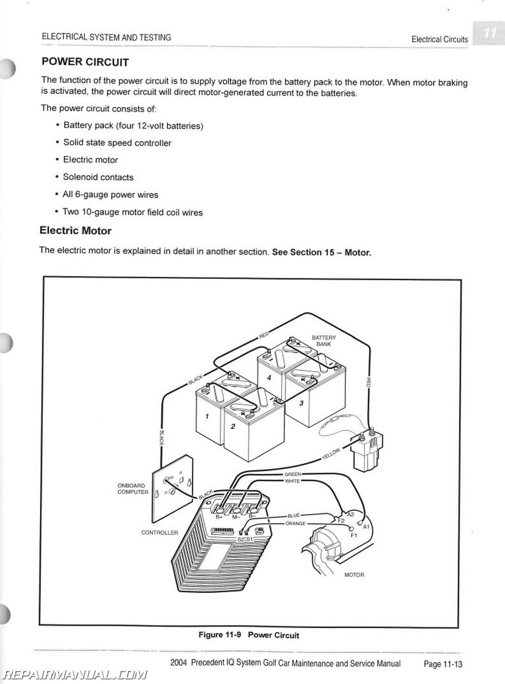 club cart wiring diagram for 2004 car precedent iq system electric vehicle