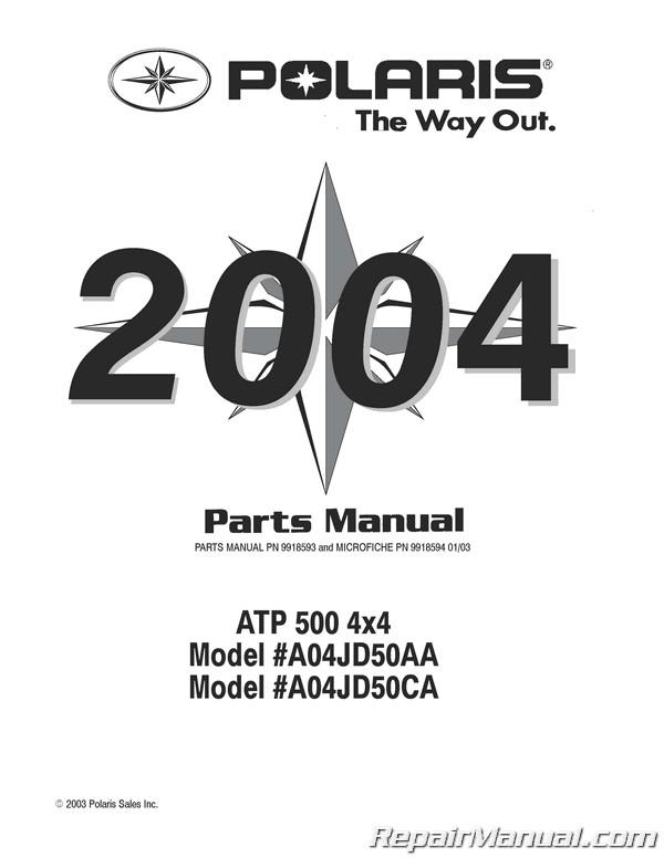 2004 Polaris ATP 500 4×4 Parts Manual