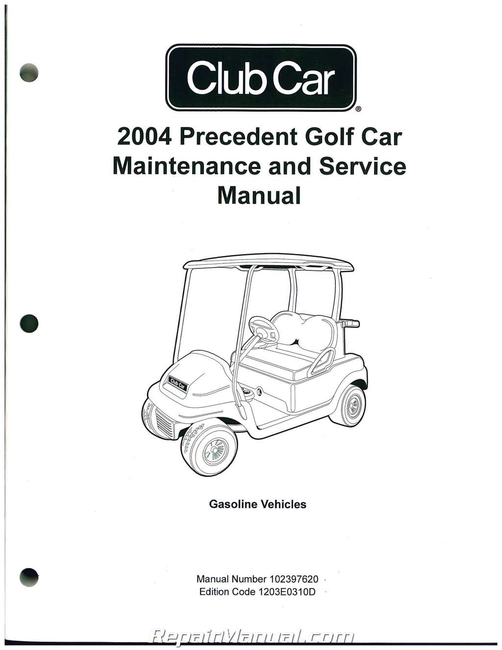 2004 Precedent Club Car Golf Cart Service Manual