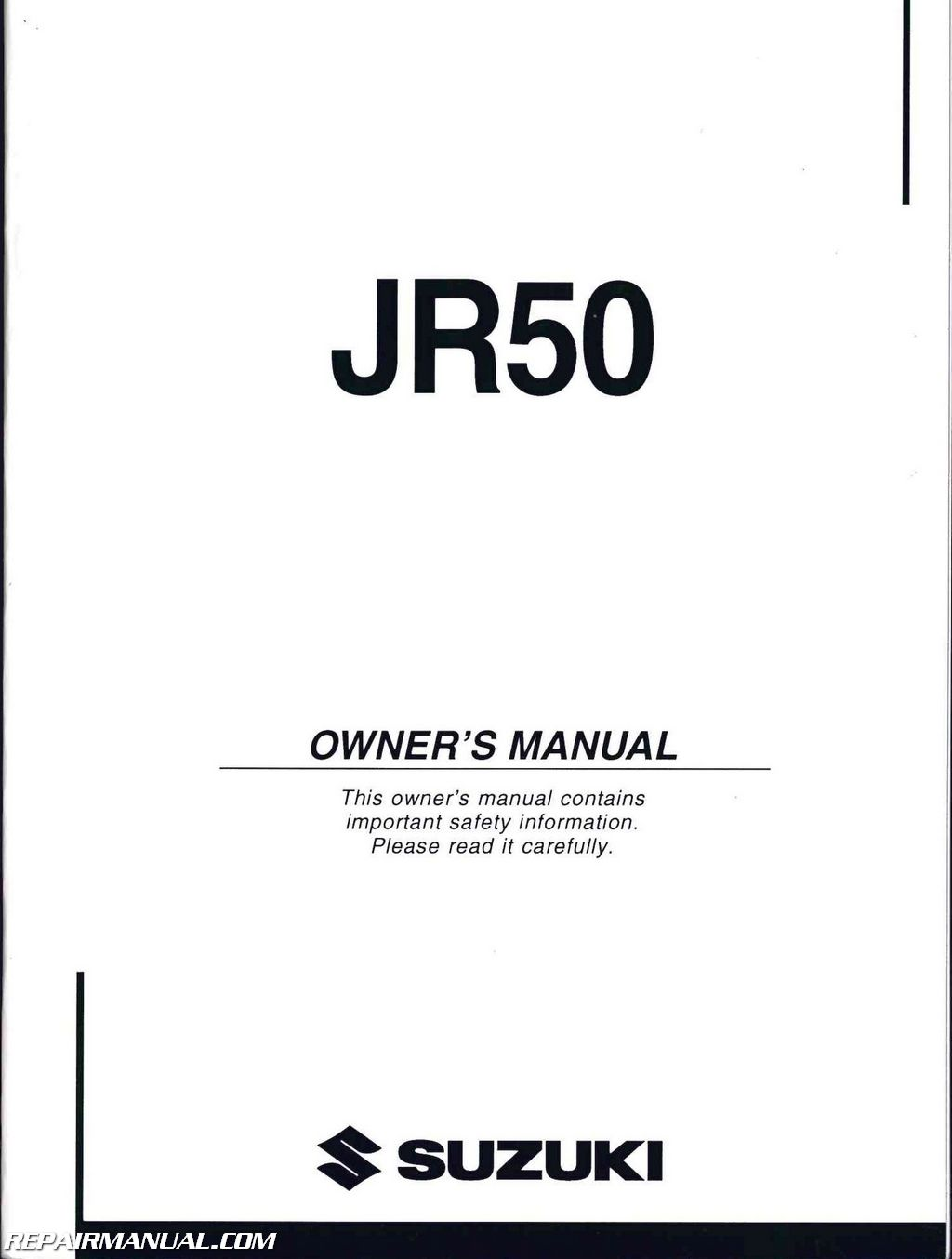 2004 Suzuki JR50K4 Motorcycle Owners Manual