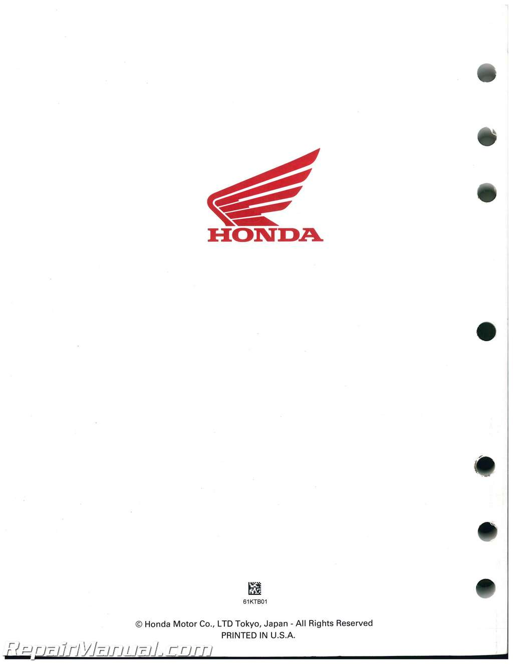 2005-2006 Honda PS250 Big Ruckus Scooter Service Manual