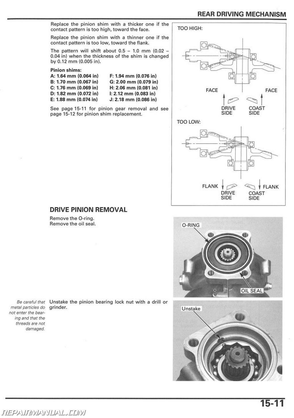 hight resolution of 2005 2018 honda trx250te tm recon atv service manual rh repairmanual com 1998 honda 250 recon