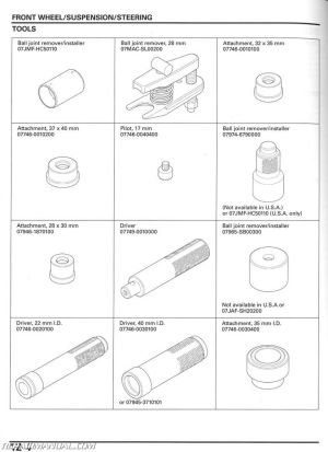 20052014 Honda TRX250TE TM Recon Service Manual : 61HM858