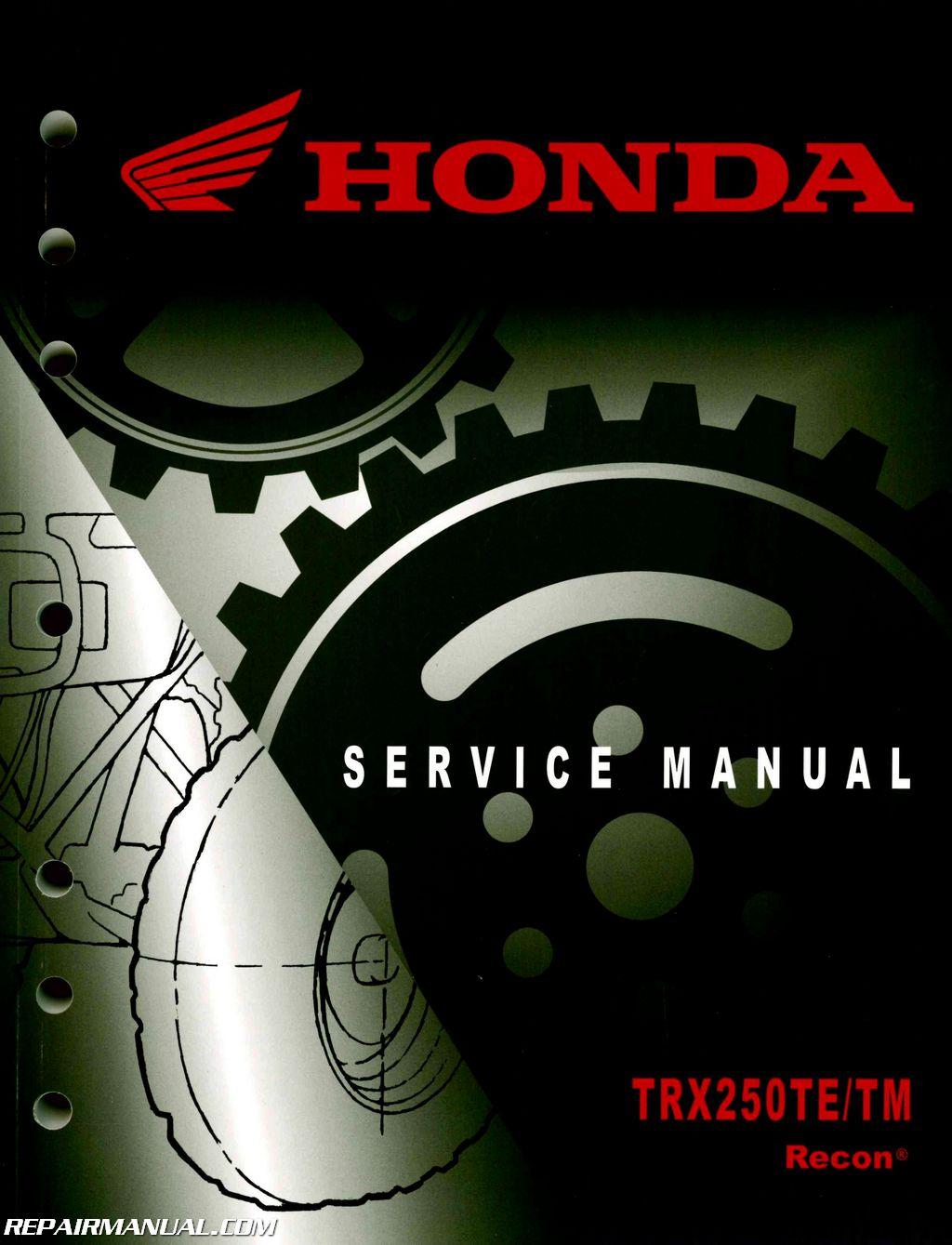 Honda Recon 250 Wiring Diagram