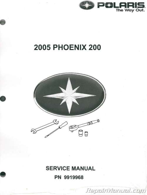 small resolution of 2005 polaris phoenix 200 atv service manual 001 1