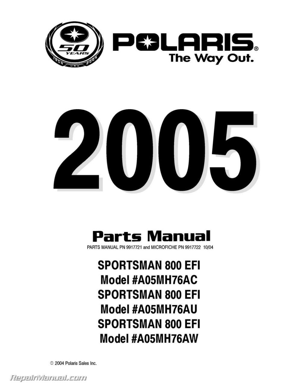 medium resolution of 2005 polaris sportsman 800 efi atv parts manual polaris sportsman 500 wiring polaris sportsman 800 parts diagrams