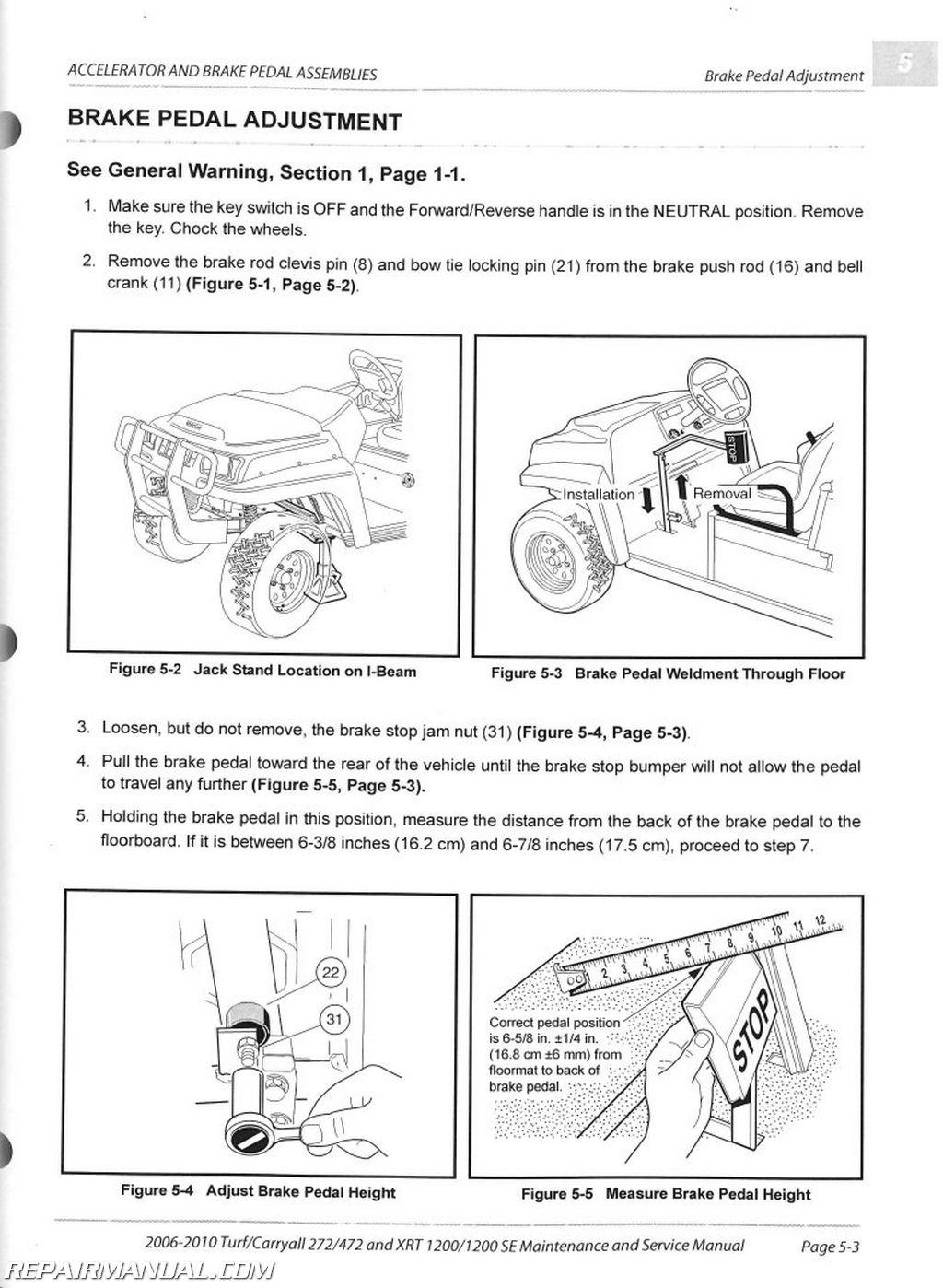 94 Club Car Golf Cart Wiring Diagram 2006 2010 Club Car Turf Carryall 272 472 Xrt1200 Se Turf