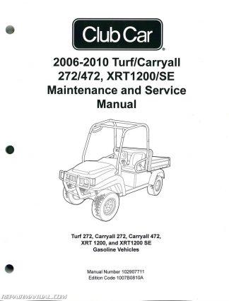 2006-2010 Club Car Turf, Carryall 272 472, XRT1200 SE Turf