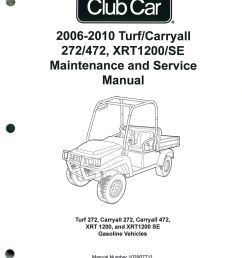2006 2010 club car turf carryall 272 472 xrt1200 se turf 272 carryall 272 carryall 472 xrt 1200 and xrt1200 se gas service manual [ 1024 x 1345 Pixel ]