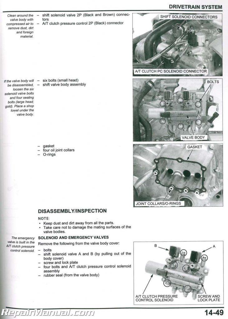 2006-2021 Honda Rincon TRX680FA FGA ATV Service Manual
