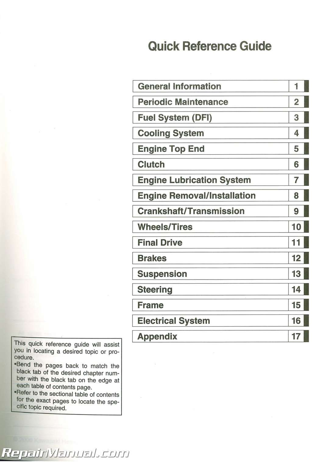 2007-2009 Kawasaki KLE650A Versys Service Manual