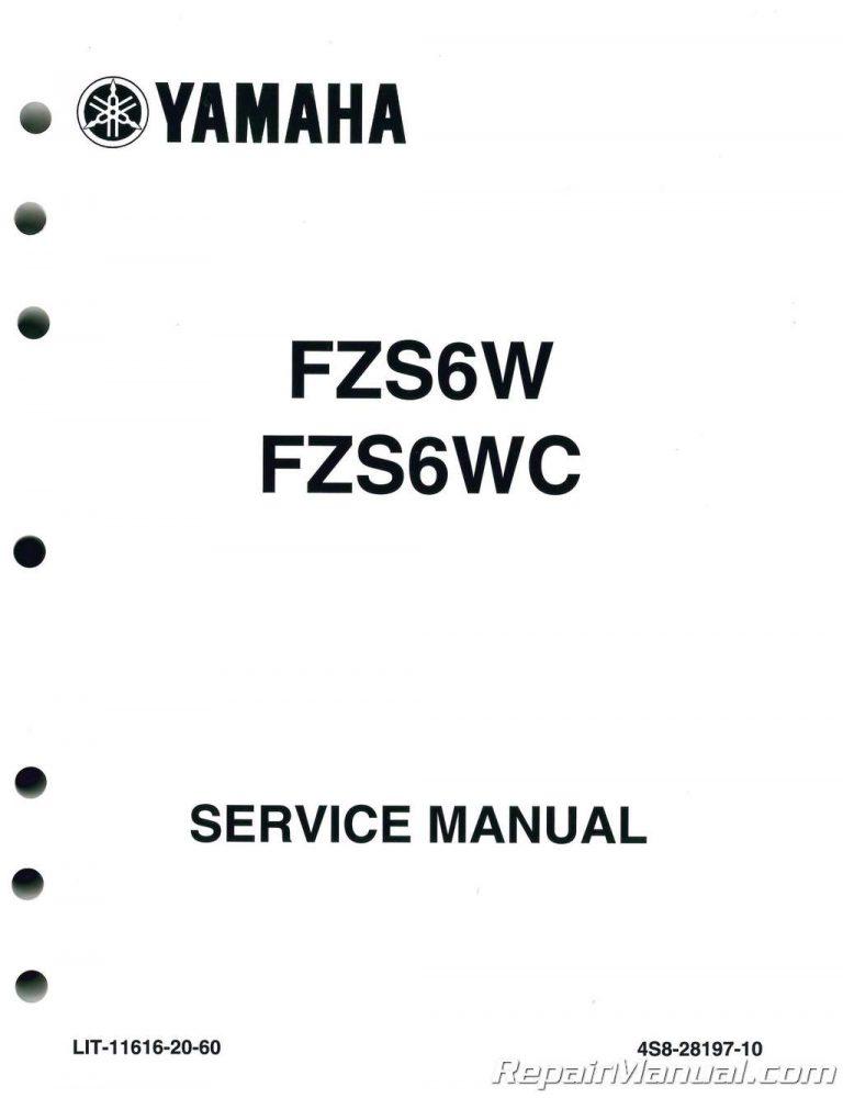 2007-2009 Yamaha FZ-6 Service Manual