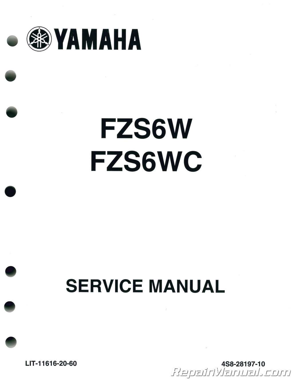 2007-2009 Yamaha FZ-6 Service Manual