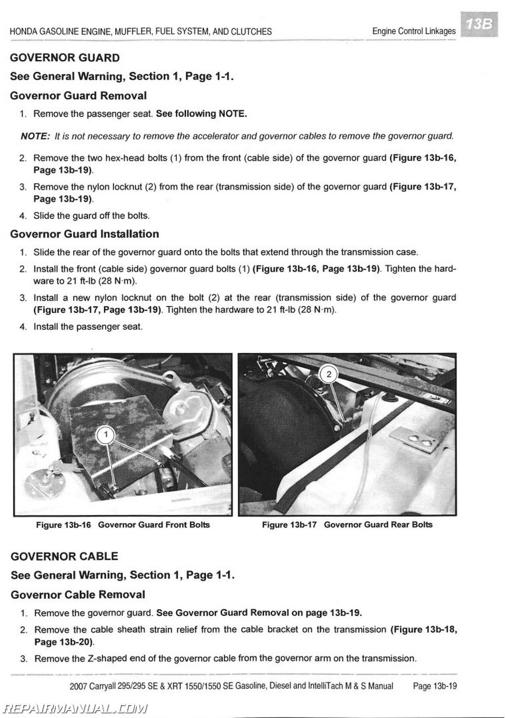 hight resolution of 2007 club car carryall service manual 295 295se xrt 1550 1550se gas diesel intellitach homologated