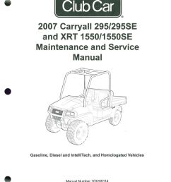 2007 club car carryall service manual 295 295se u2013 xrt 15502007 club car carryall [ 1024 x 1334 Pixel ]