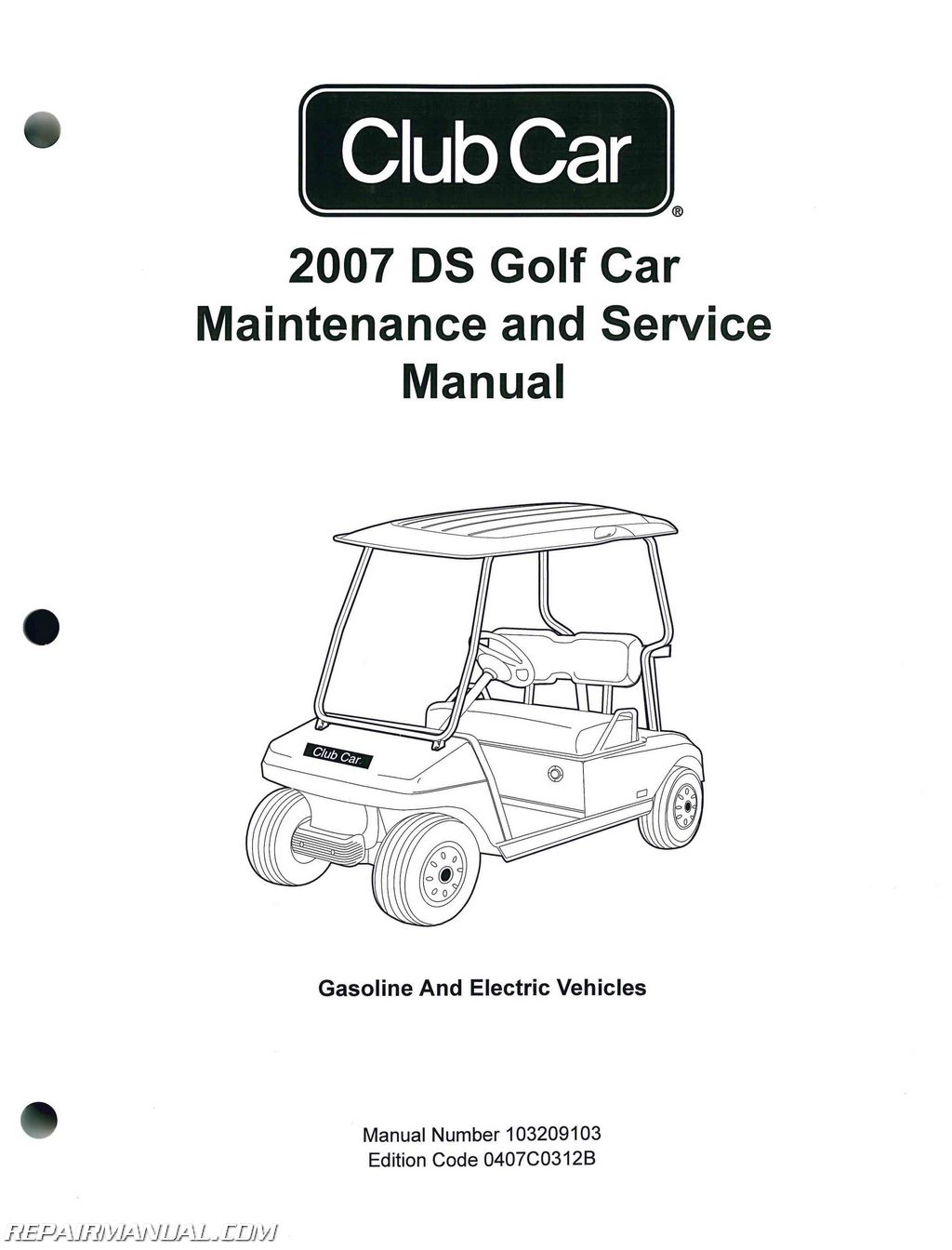 2007 Club Car DS Golf Car Gas And Electric Golf Cart