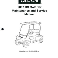 Club Cart Wiring Diagram Electric Door Bell 2007 Car Ds Golf Gas And