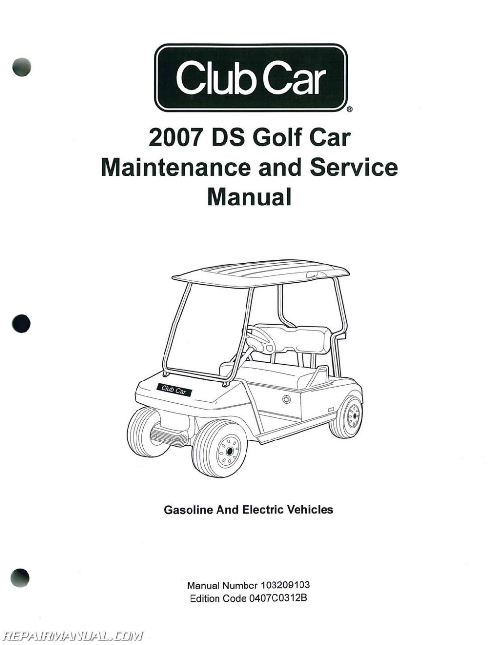 medium resolution of 2007 club car ds golf car gas and