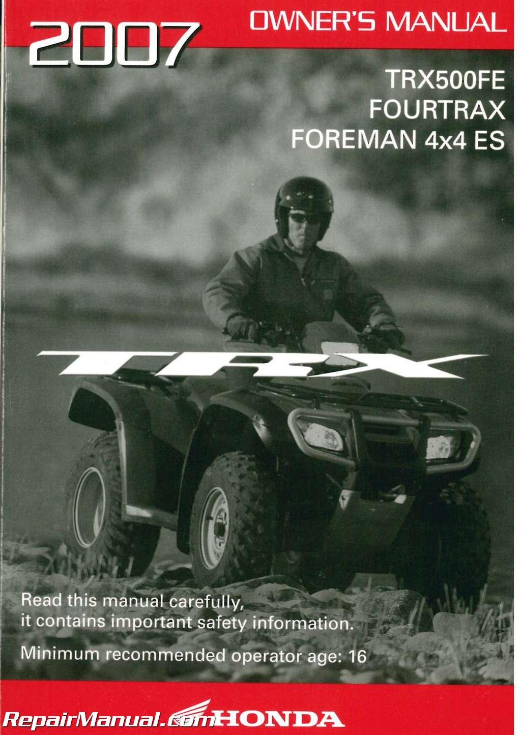 2008 Honda Foreman 500 Parts
