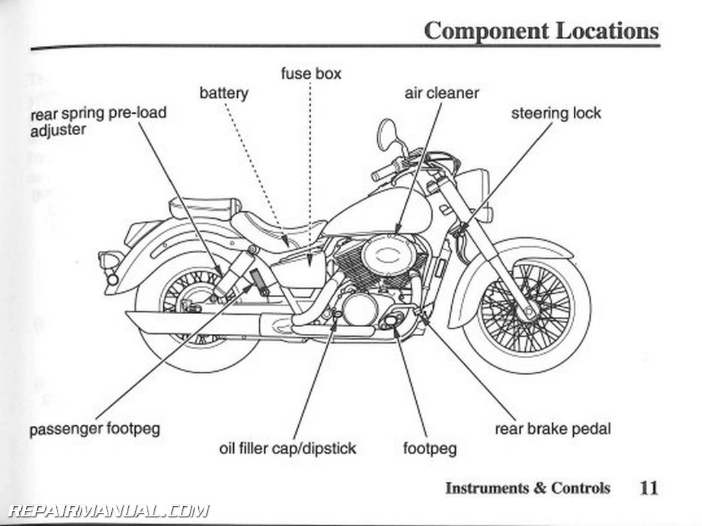 2007 Honda VT750C2 Shadow Spirit Motorcycle Owners Manual