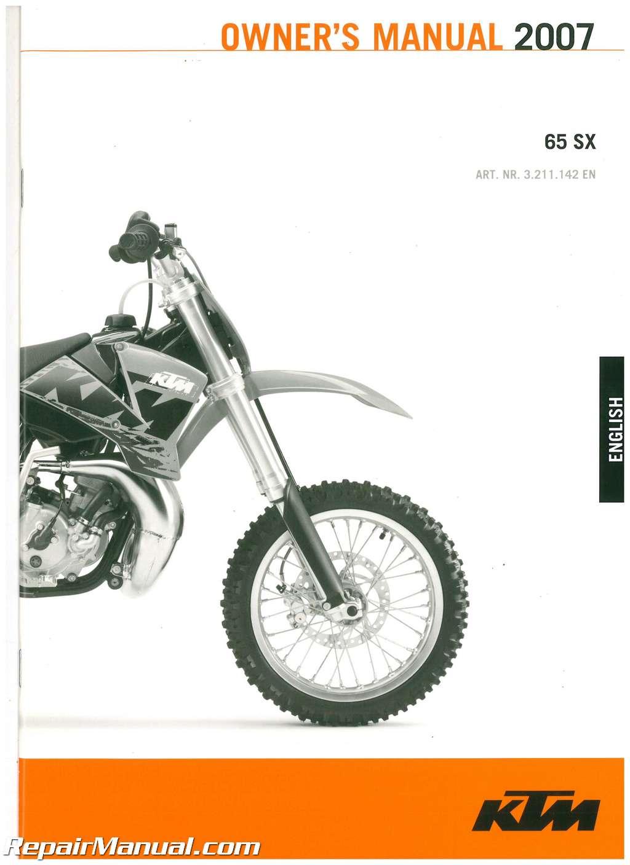 ktm 65 sx repair manual