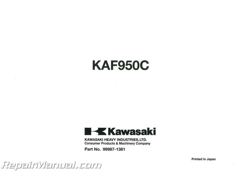 2007 Kawasaki KAF950C Mule 3010 Diesel Owners Manual