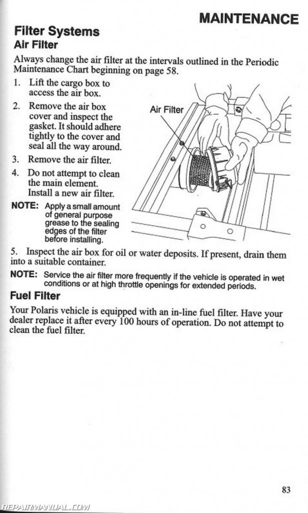 2007 Polaris Ranger 4X4 6X6 700 EFI XP Owners Manual