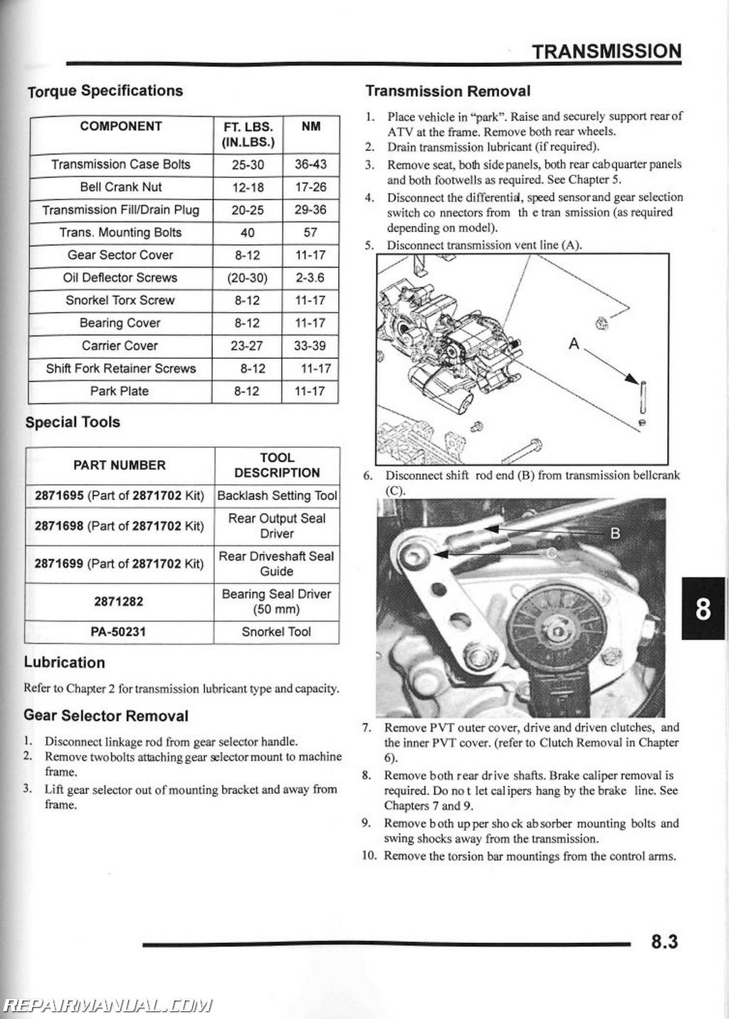 hight resolution of 2007 polaris sportsman 450 500 x2 efi atv repair manual