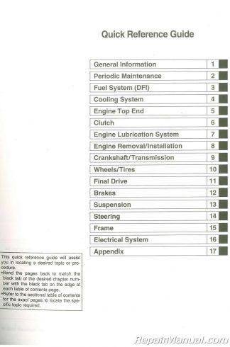 Used 2007 Z1000 Kawasaki ZR1000B Service Manual