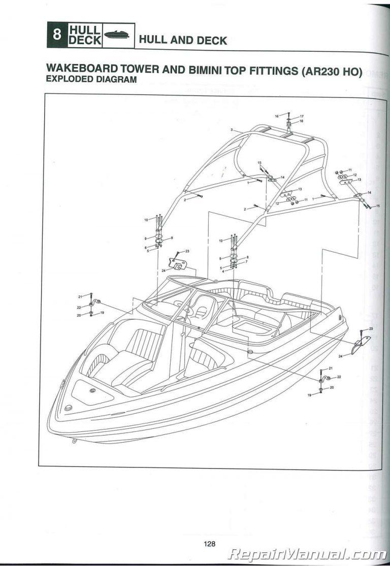 2008-2009 Yamaha AR230 SX230 HO Limited SXT1100A-G Sport
