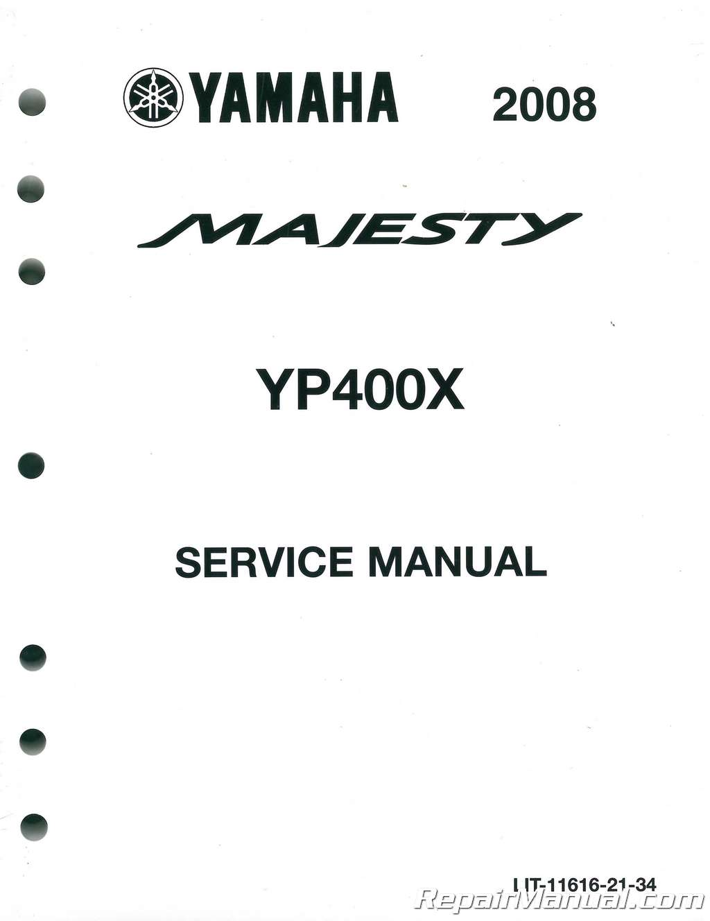 2008-2010 And 2012-2014 Yamaha YP400 Majesty Scooter Service Manual