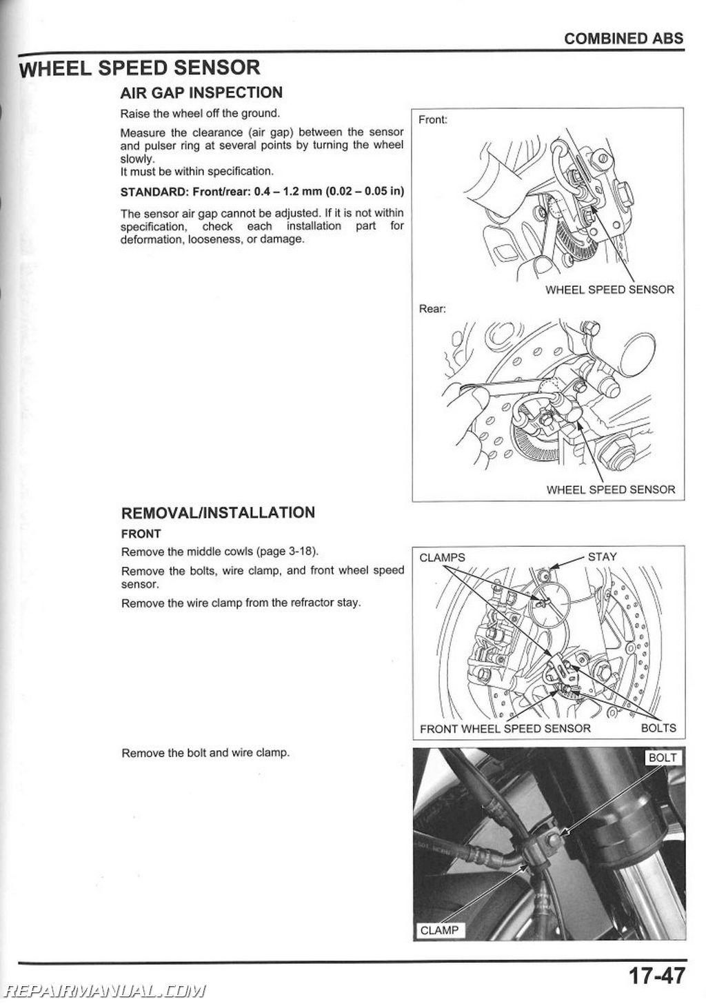 Honda Crf50 Wiring Diagram 2008 2016 Honda Cbr1000rr Motorcycle Service Manual