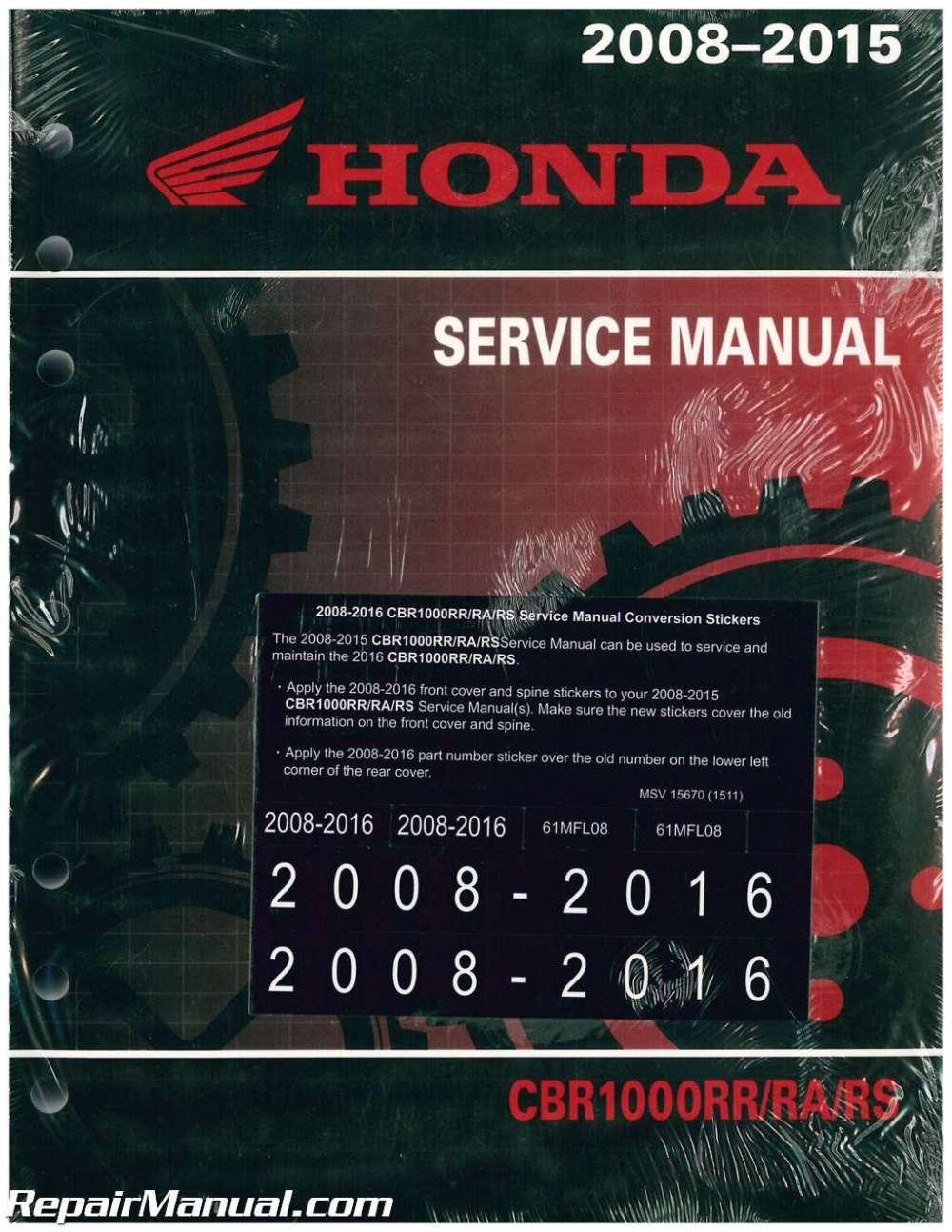 medium resolution of 2008 2016 honda cbr1000rr