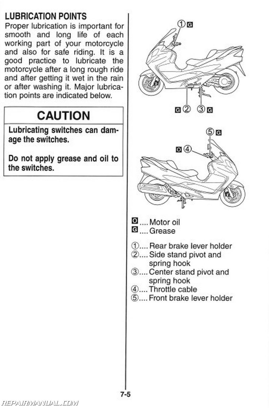 2008 Suzuki AN400K8 Burgman Scooter Owners Manual