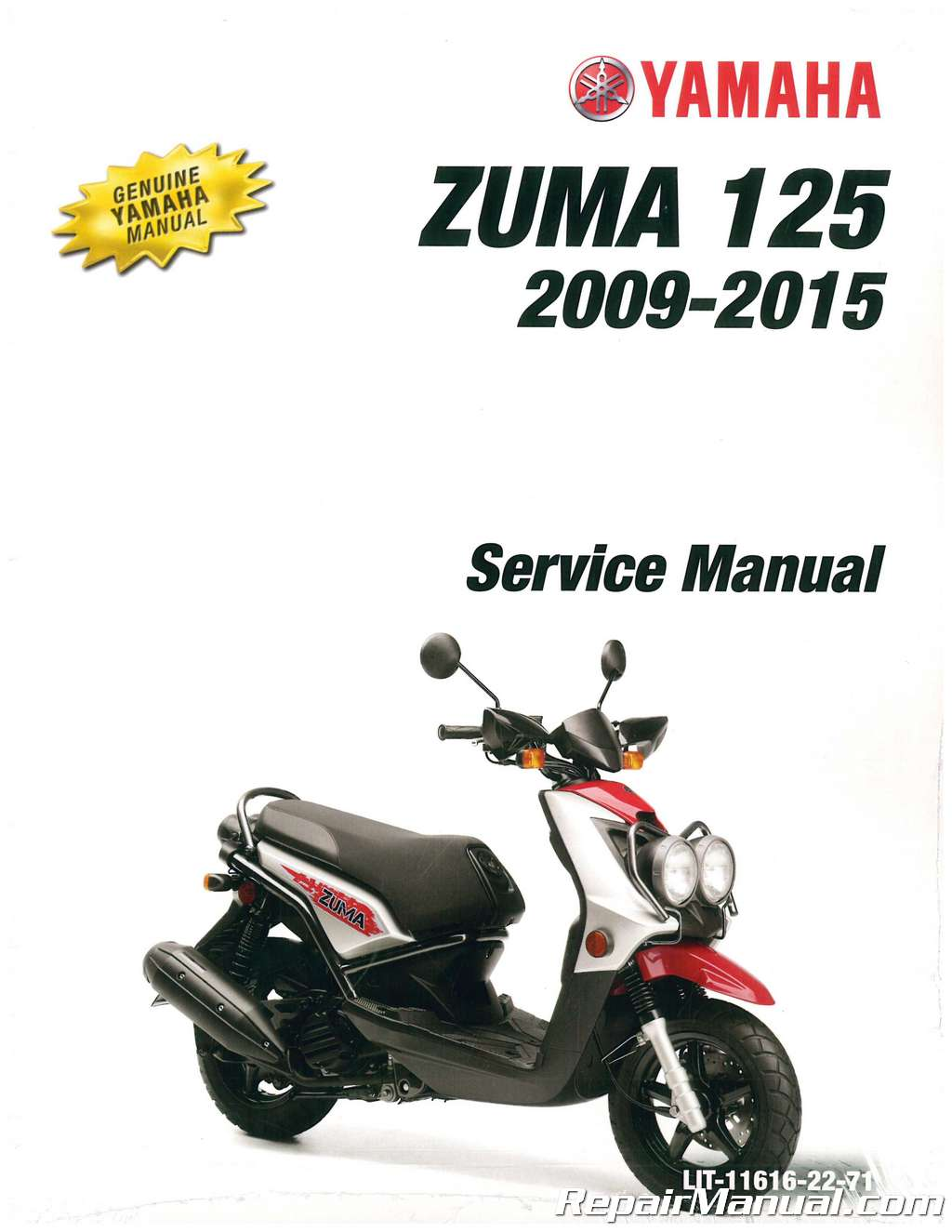 hight resolution of 2009 2016 yamaha yw125 zuma 125 scooter service manual rh repairmanual com yamaha zuma 50cc scooter yamaha zuma 125 fuse box location