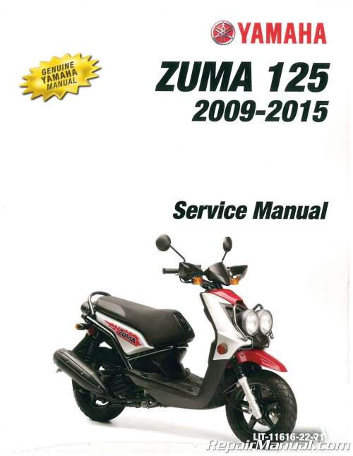 small resolution of 2009 2016 yamaha yw125 zuma 125 scooter service manual rh repairmanual com yamaha zuma 50cc scooter yamaha zuma 125 fuse box location