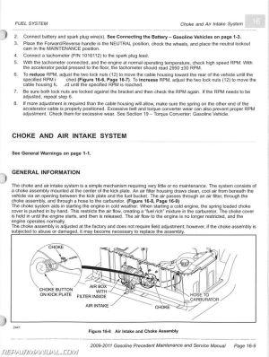 20092011 Club Car Gasoline Precedent Maintenance And Service Manual