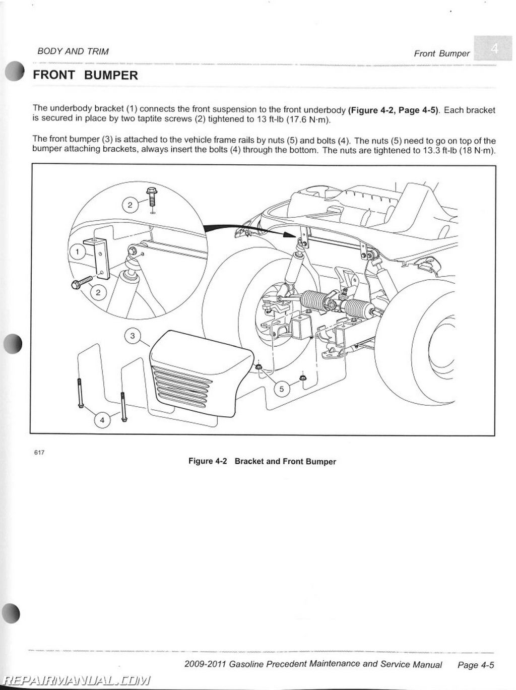 Club Car Gasoline Precedent Maintenance And Service Manual